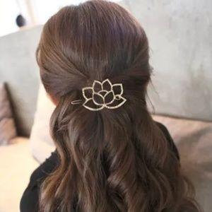 *BOGO * Golden Lotus Flower Barrette